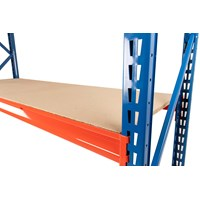 Twin Slot Longspan Racking Starter Bay with Chipboard Decking