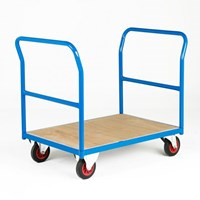 500 Series Platform Trolley - Two Plain End Panels