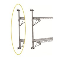 Eclipse Chrome Wire Wall Post Set