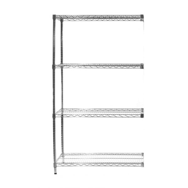 Eclipse Chrome Wire Shelving (Extension Bay 4 Shelves)