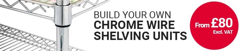 Design your own chrome wire units