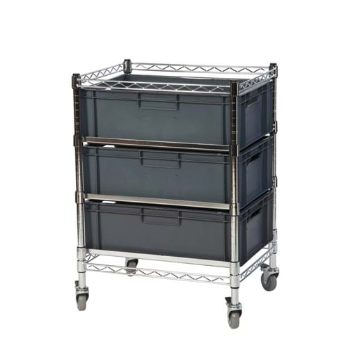 Eclipse Chrome Wire Euro Box Cart (To fit 220mm box)