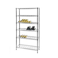Eclipse Chrome Wire Wine Bottle Shelving Racks