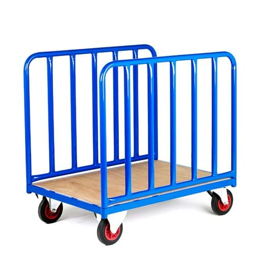 500 Series Platform Trolley - Long Goods Double Straight Tubular Sides