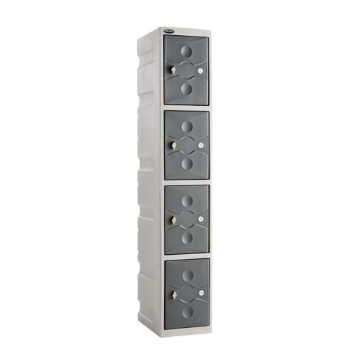 ULTRABOX Four Compartment Plastic Locker
