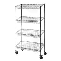 Eclipse Chrome Wire Sloped Shelf Display Unit