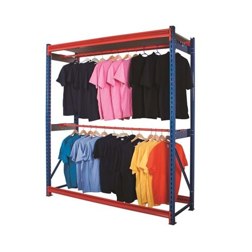 Longspan Centre Garment Racking Levels