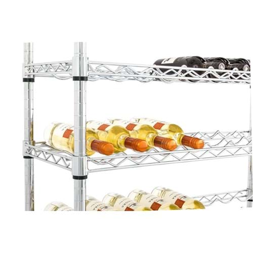 Eclipse Chrome Wire Wine Rack Shelving
