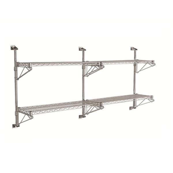 Eclipse Chrome Wire Cantilever Wall Shelving