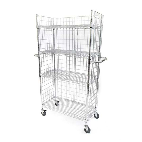 Eclipse Chrome Wire Linen Cart