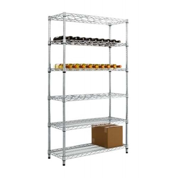 Eclipse Chrome Wire Wine Rack Shelving with Under Storage