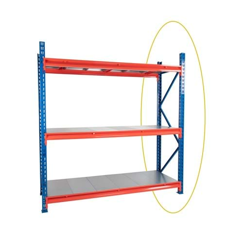 Twin Slot Longspan Racking Frame