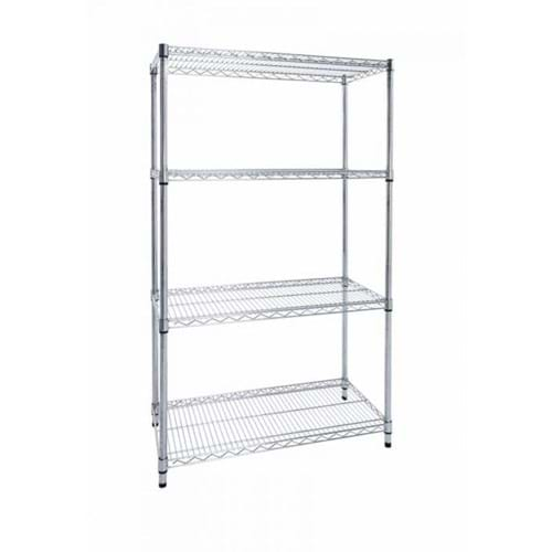 Eclipse Chrome Wire Shelving (Starter Bay 4 Shelves)