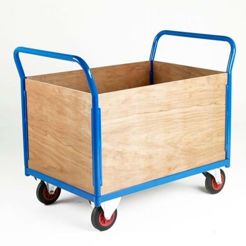 500 Series Platform Trolley - Double Wooden End & Double Side