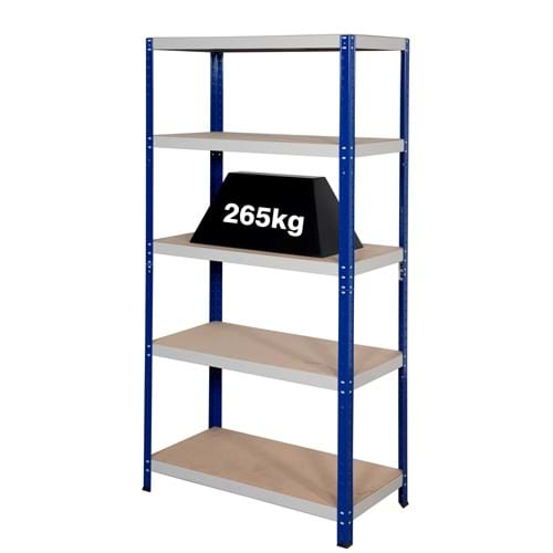 Clicka 265 Shelving (Blue/Grey)