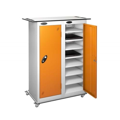 2 Door 16 Shelf TABbox Charging Trolley