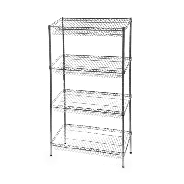 Eclipse Chrome Wire Sloped Display Shelving Unit