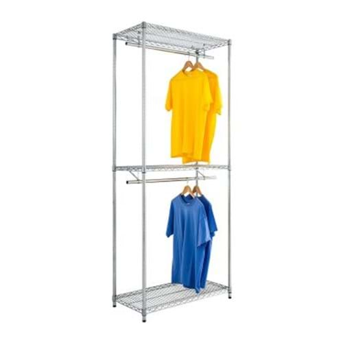Eclipse Chrome Wire Double Garment Rack