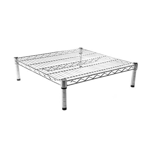 Eclipse Chrome Wire Dunnage Frame with Mesh Shelf