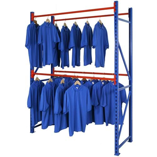 Longspan Double Garment Hanging Rail Levels