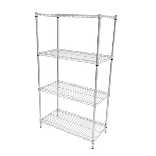Eclipse Perma Plus Wire Shelving (Starter Bay 4 Shelves)