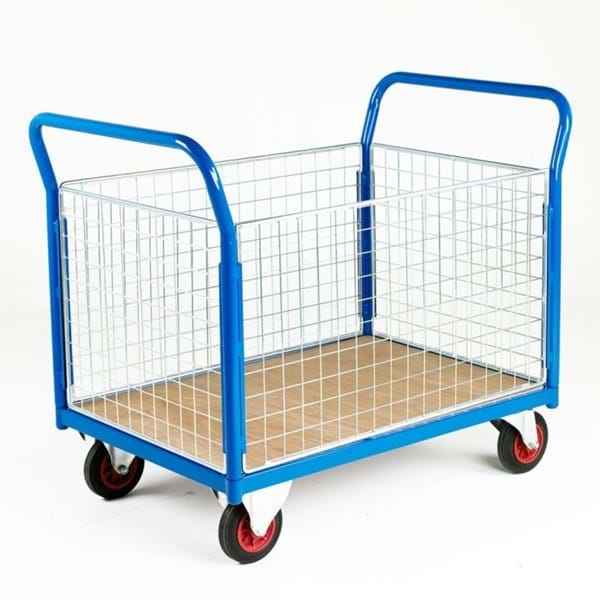 500 Series Platform Trolley - Double Mesh End & Double Side