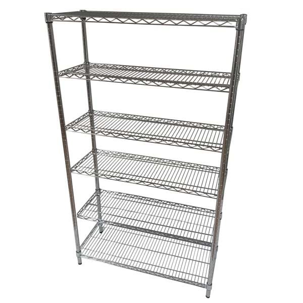 Eclipse Chrome Wire Display Unit with Set Back Cantilever Shelves