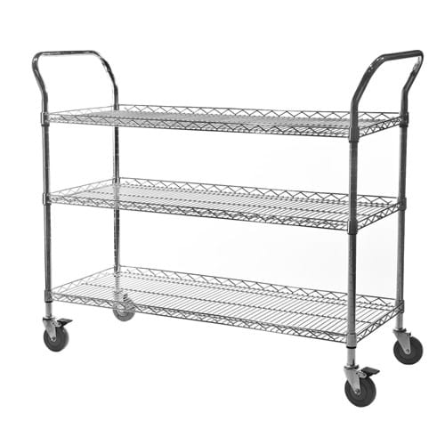 Eclipse Chrome Wire Lipped Edge Trolley