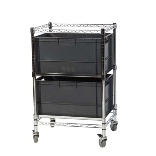 Eclipse Chrome Wire Euro Box Cart (To fit 325mm box)