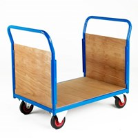 500 Series Platform Trolley - Double Wooden End