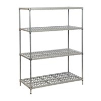 Eclipse Plastic Plus Vented Shelving (Starter Bay 4 Shelves)