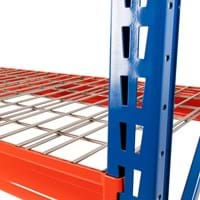 Twin Slot Longspan Racking Starter Bay with Wire Mesh Decking
