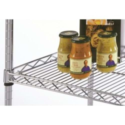 Eclipse Chrome Wire Lipped Shelf