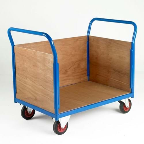 500 Series Platform Trolley - Double Wooden End & Single Side